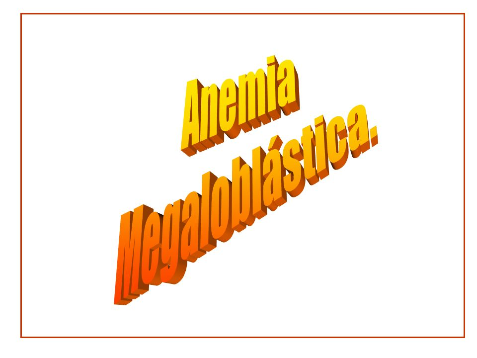 Anemia Megaloblástica. Dr. Carlos Almaguer Gaona.