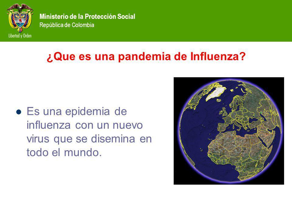 ¿Que es una pandemia de Influenza