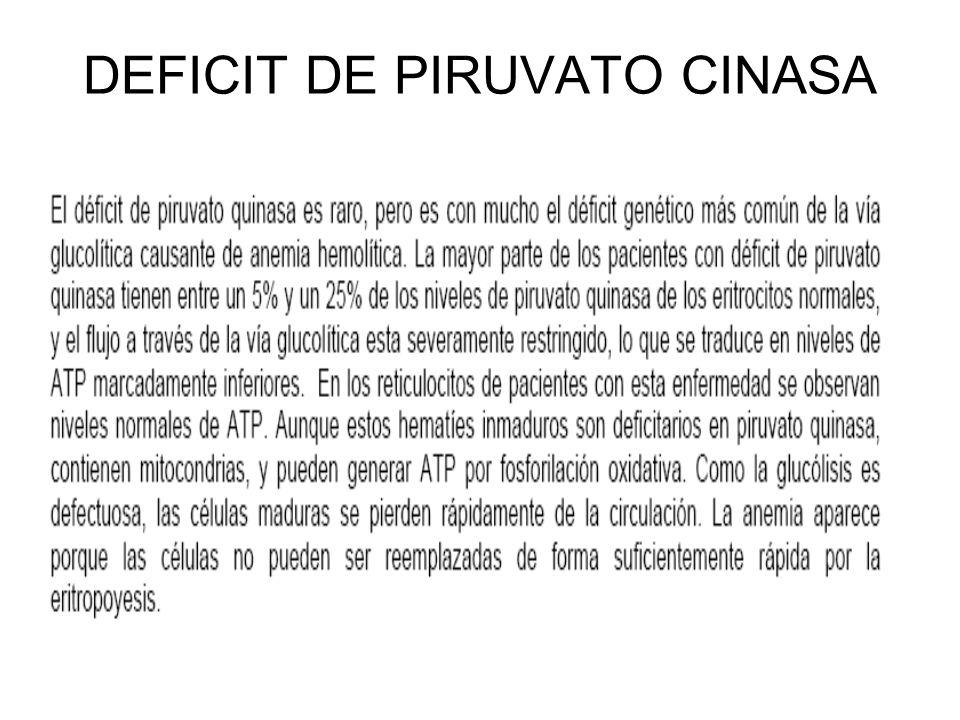 DEFICIT DE PIRUVATO CINASA