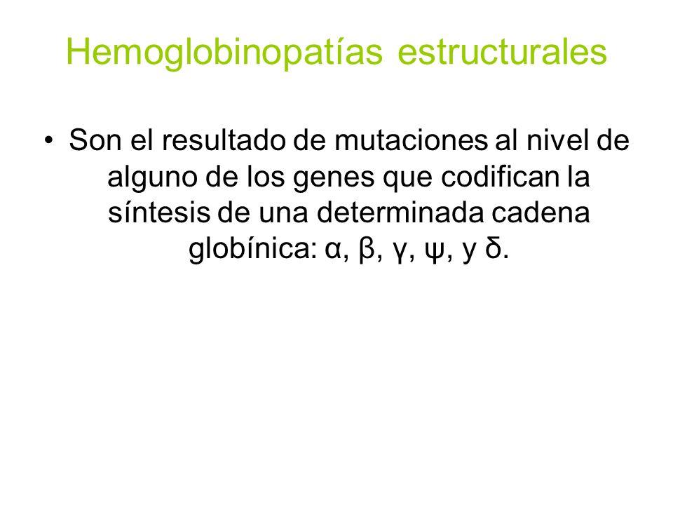 Hemoglobinopatías estructurales