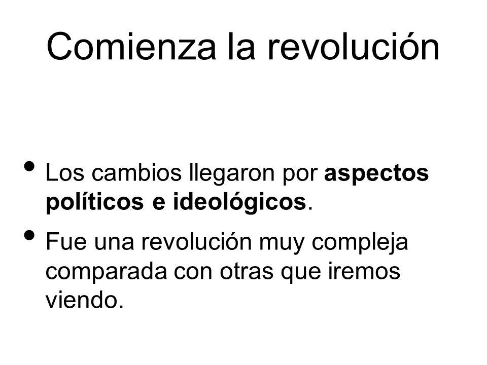 Comienza la revolución