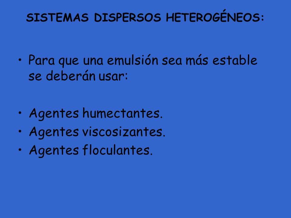SISTEMAS DISPERSOS HETEROGÉNEOS:
