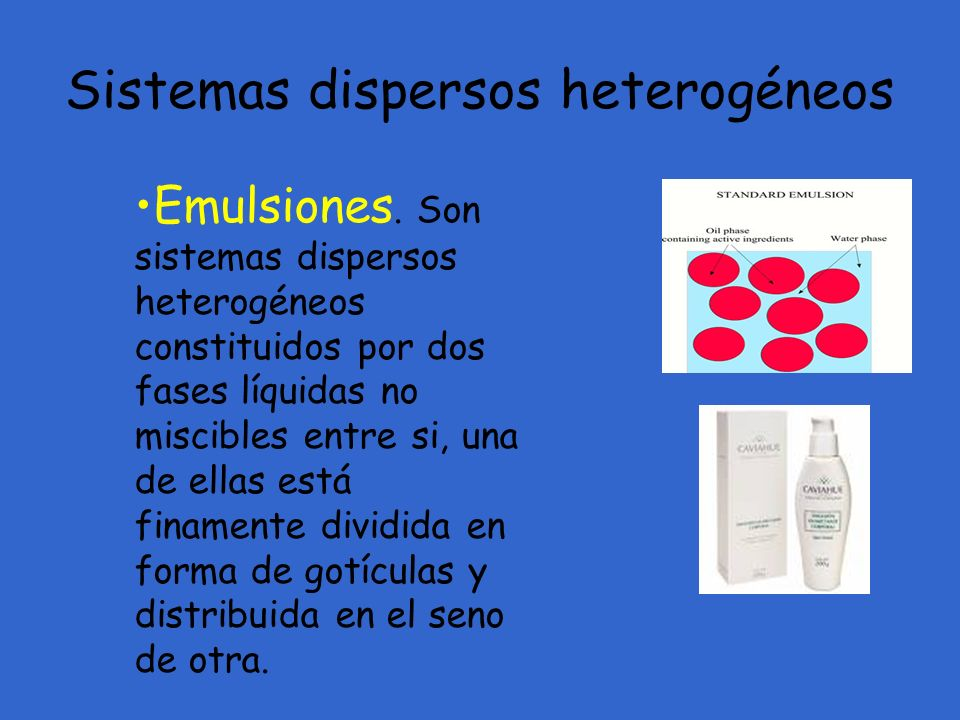 Sistemas dispersos heterogéneos