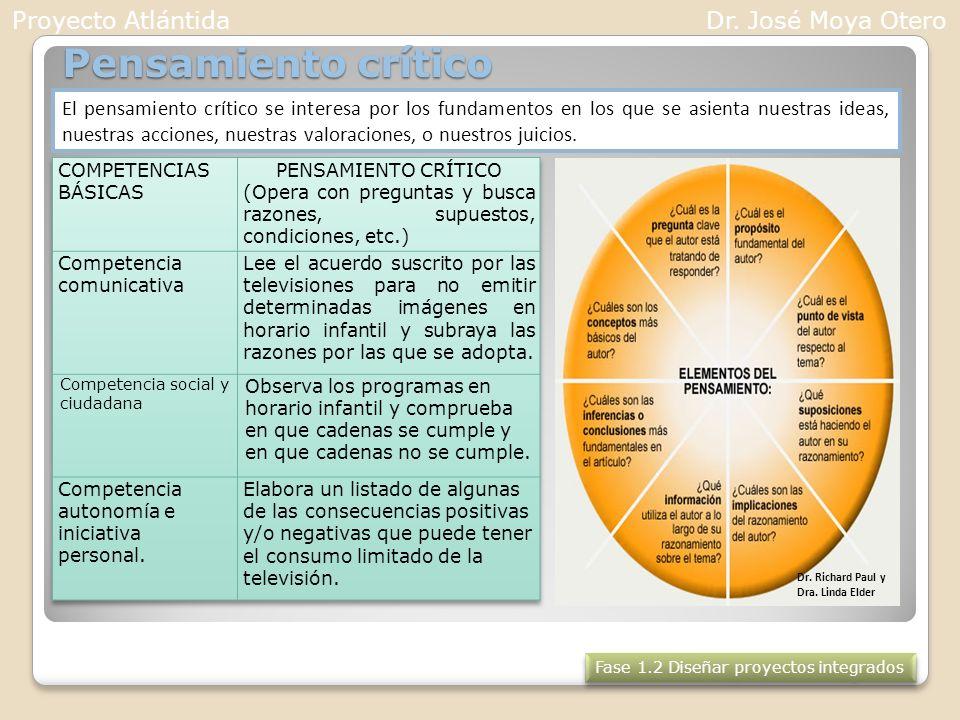 Pensamiento crítico Proyecto Atlántida Dr. José Moya Otero