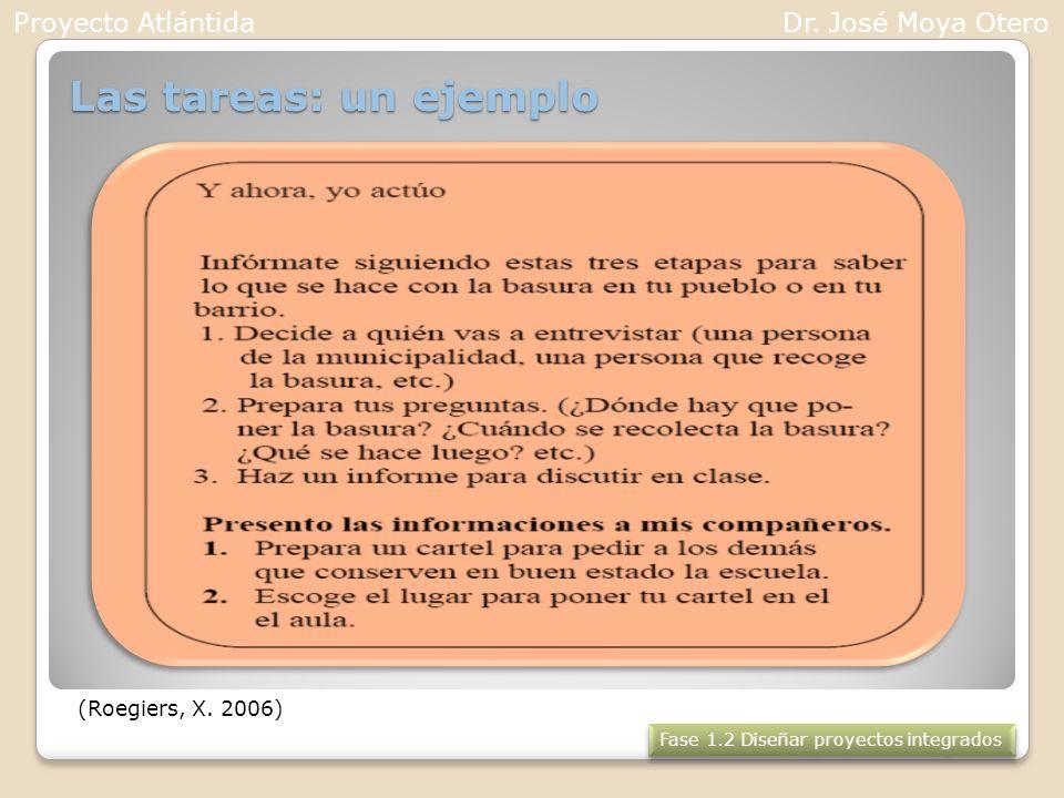 Las tareas: un ejemplo Proyecto Atlántida Dr. José Moya Otero