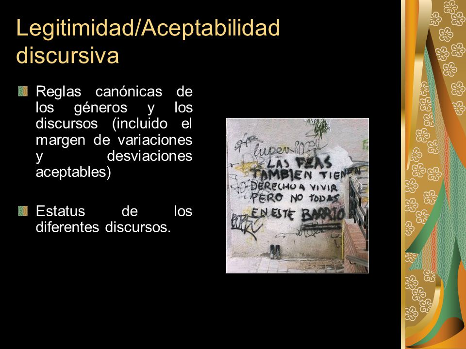 Legitimidad/Aceptabilidad discursiva