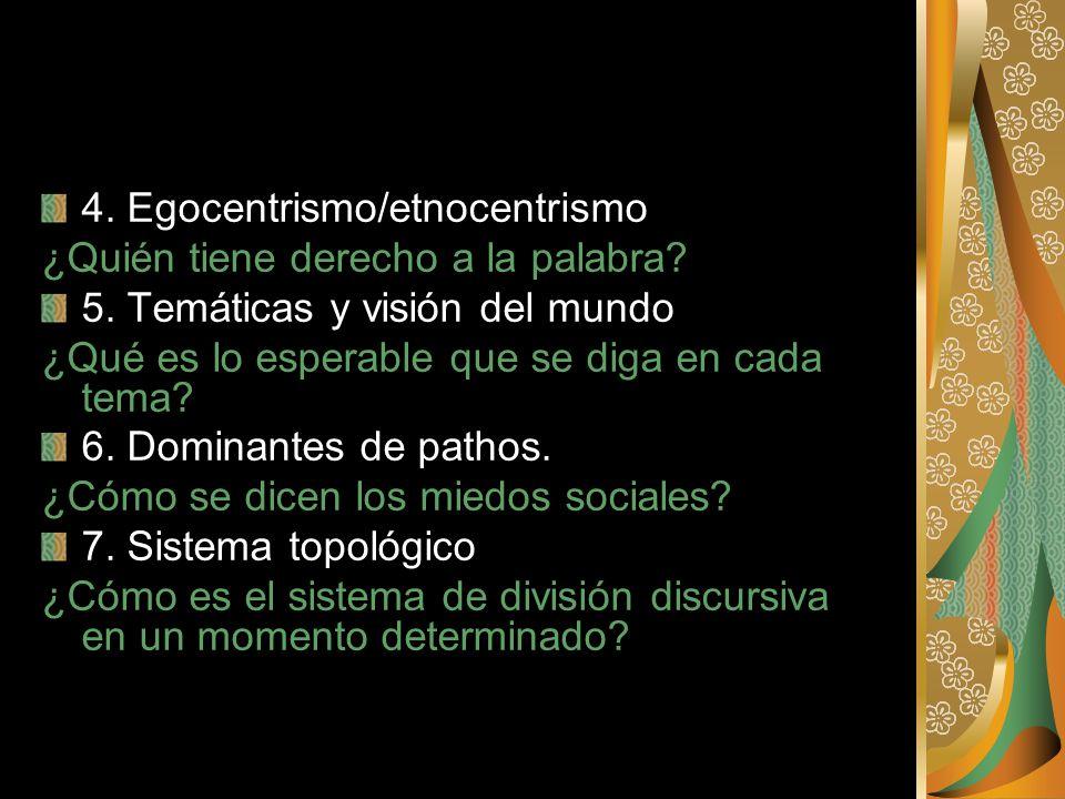 4. Egocentrismo/etnocentrismo