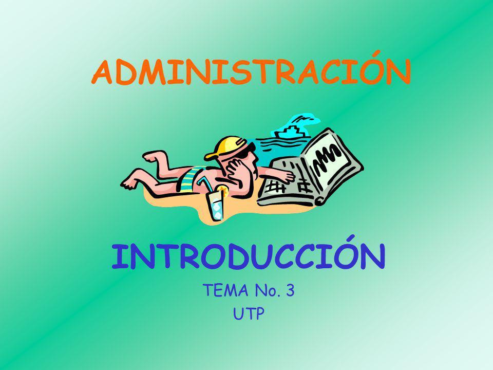 INTRODUCCIÓN TEMA No. 3 UTP