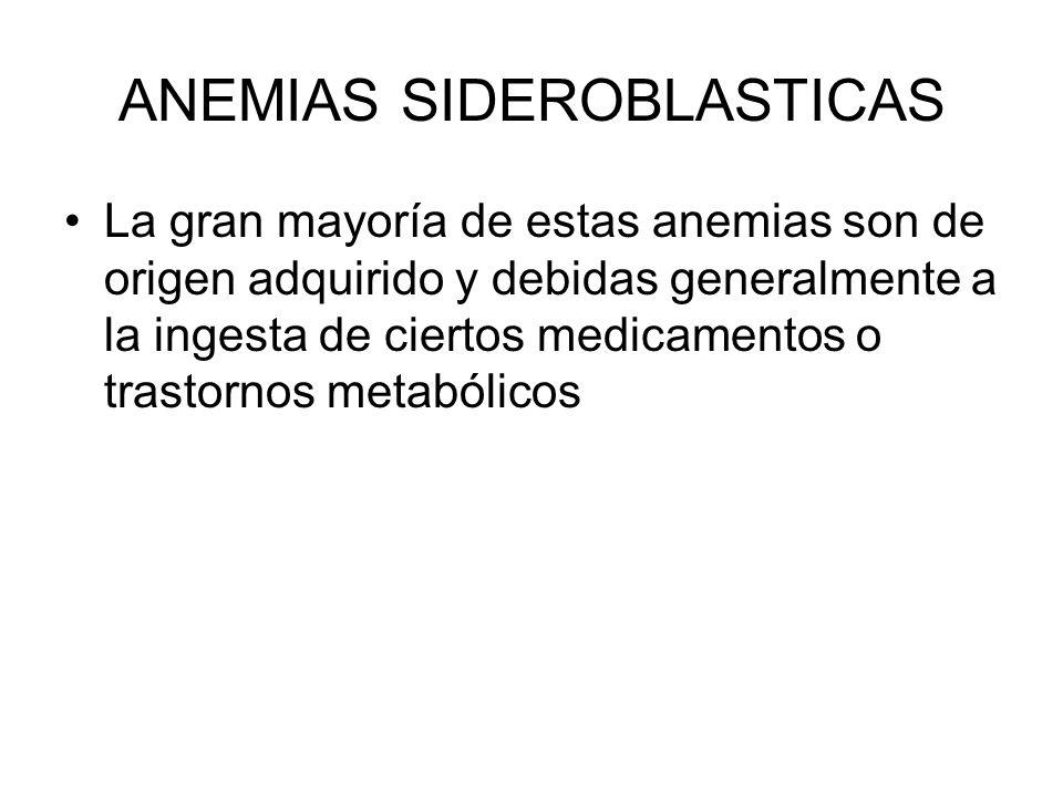 ANEMIAS SIDEROBLASTICAS