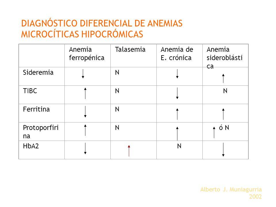 DIAGNÓSTICO DIFERENCIAL DE ANEMIAS MICROCÍTICAS HIPOCRÓMICAS