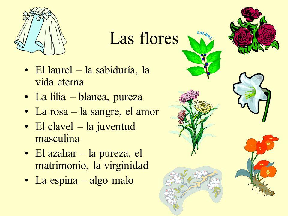 Las flores El laurel – la sabiduría, la vida eterna