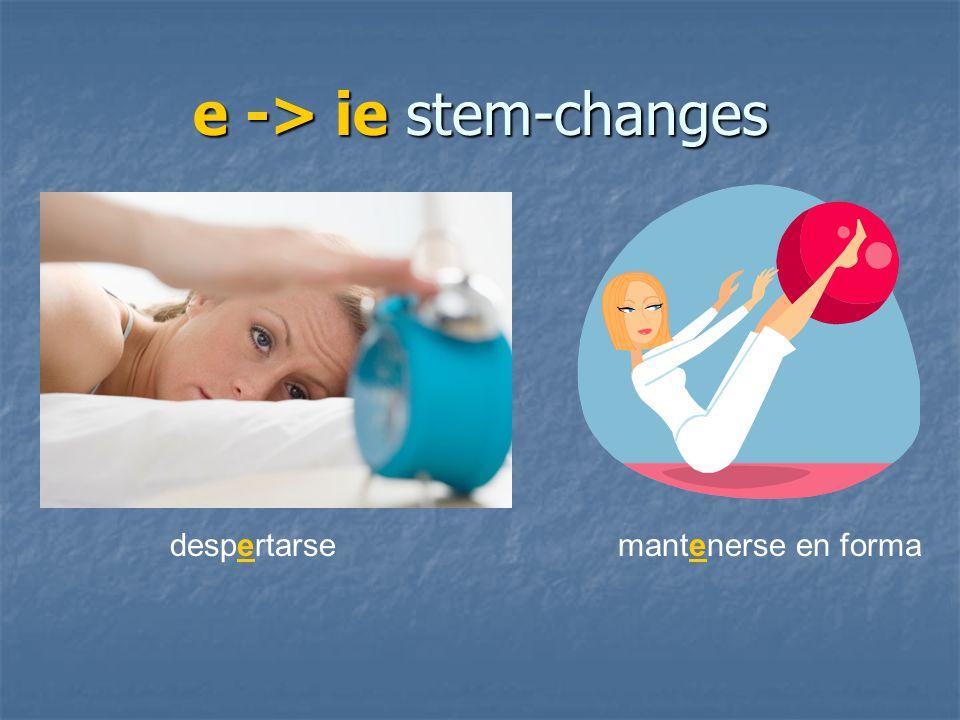 e -> ie stem-changes