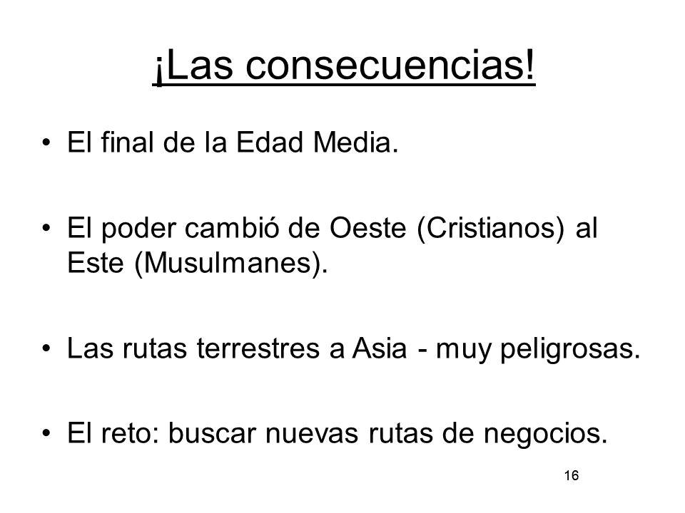 ¡Las consecuencias! El final de la Edad Media.