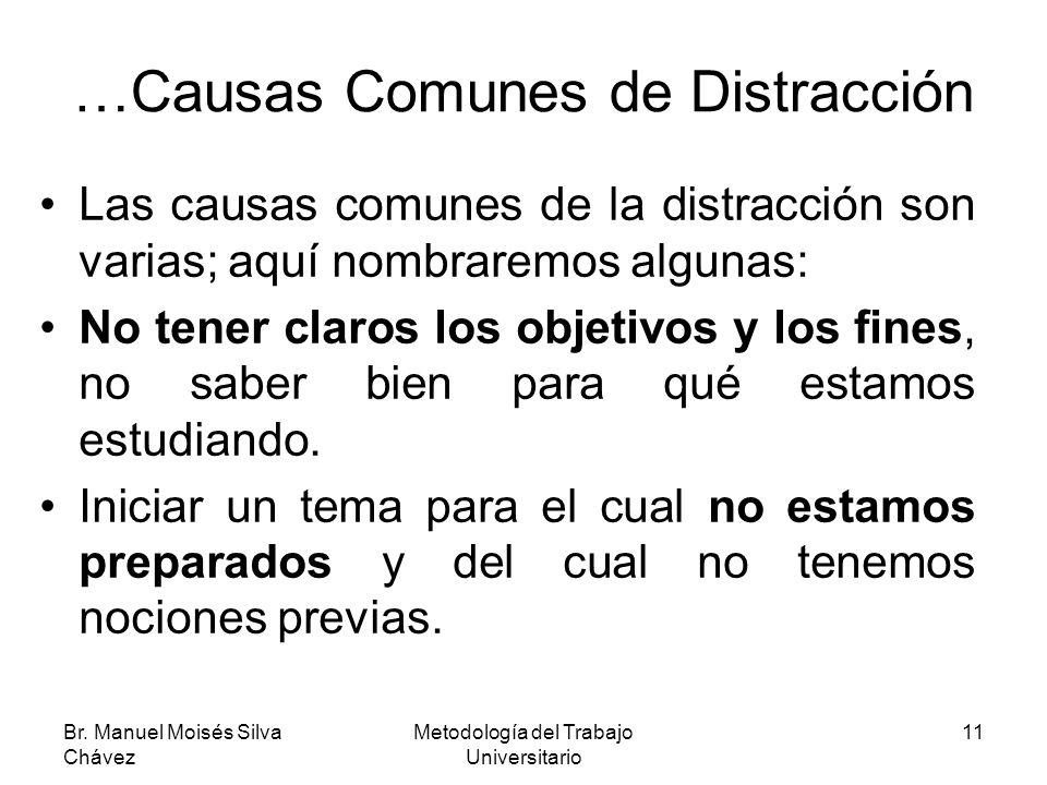 …Causas Comunes de Distracción