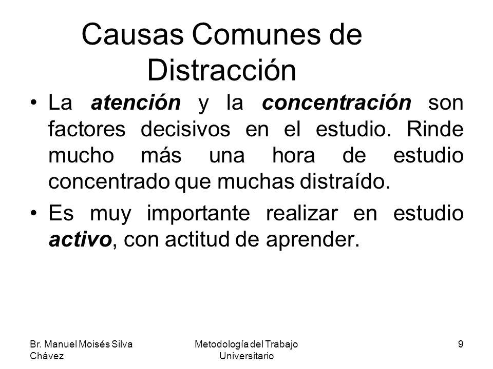 Causas Comunes de Distracción
