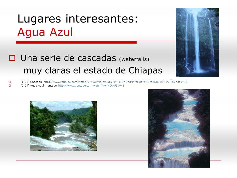 Lugares interesantes: Agua Azul