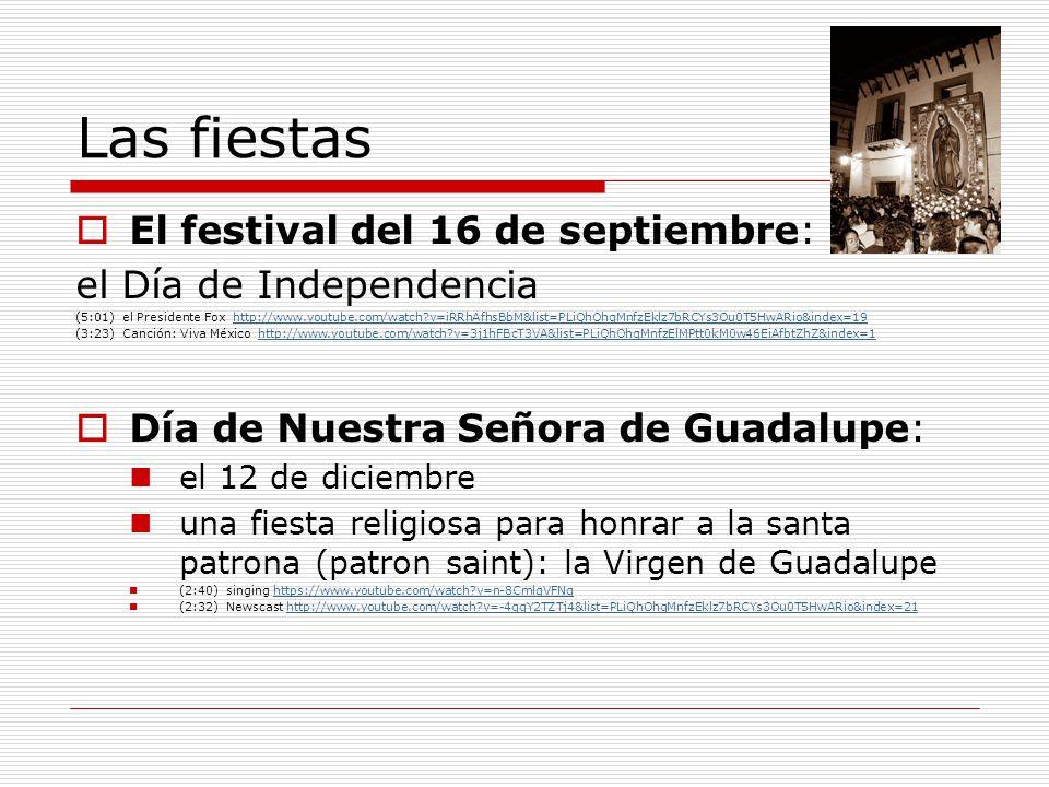 Las fiestas El festival del 16 de septiembre: el Día de Independencia