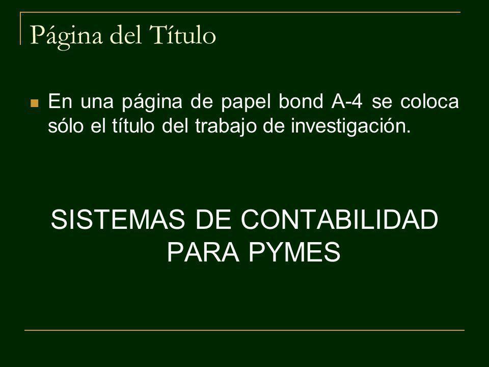 SISTEMAS DE CONTABILIDAD PARA PYMES