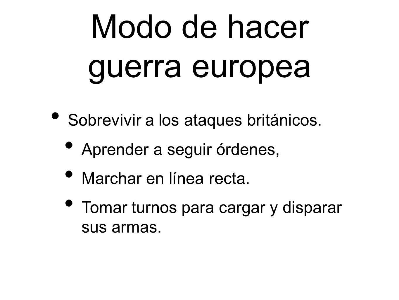 Modo de hacer guerra europea