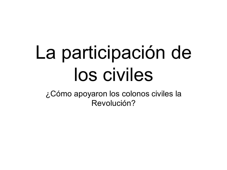 La participación de los civiles