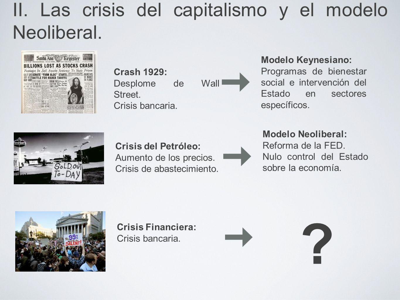 II. Las crisis del capitalismo y el modelo Neoliberal.
