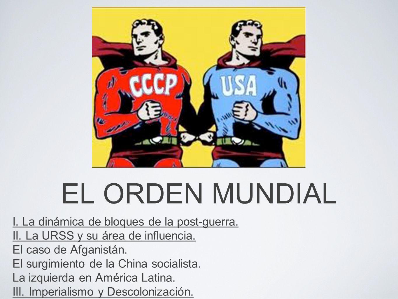 EL ORDEN MUNDIAL I. La dinámica de bloques de la post-guerra.