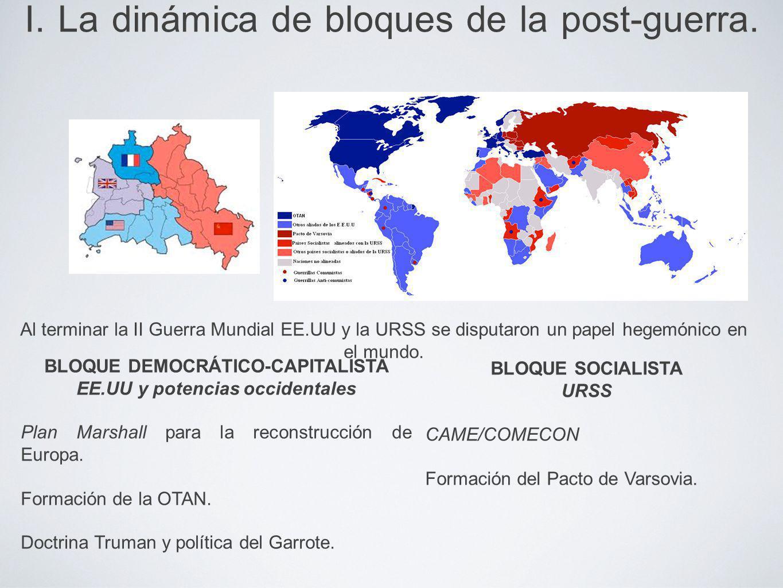 I. La dinámica de bloques de la post-guerra.