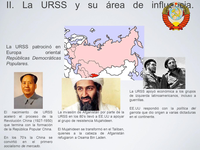 II. La URSS y su área de influencia.