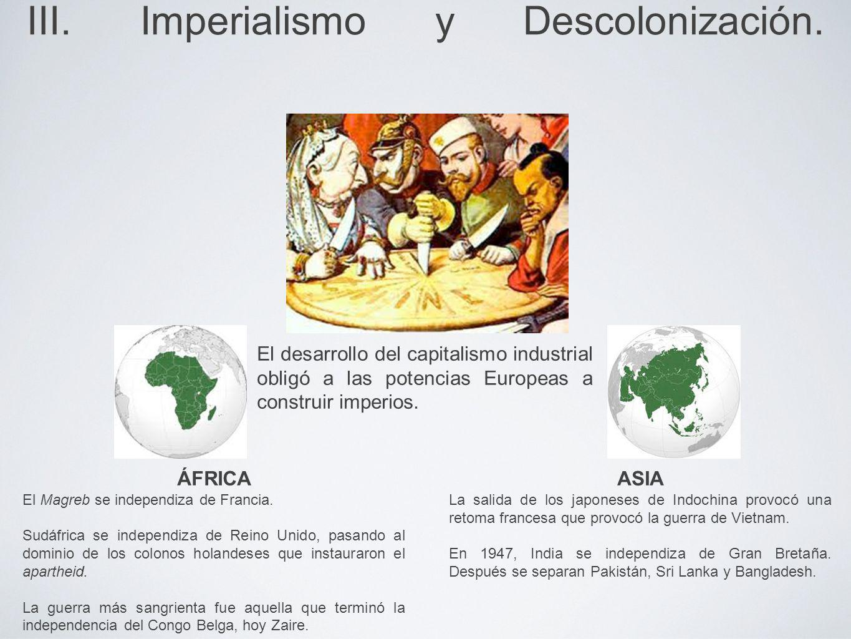 III. Imperialismo y Descolonización.