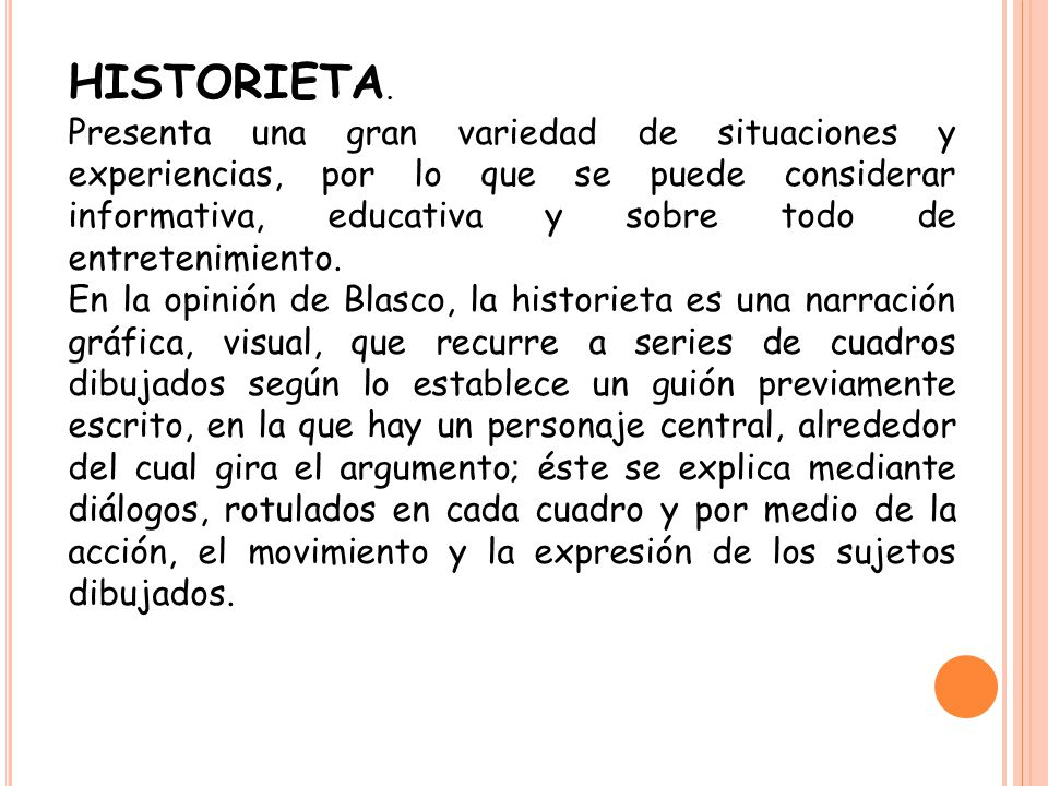 HISTORIETA.