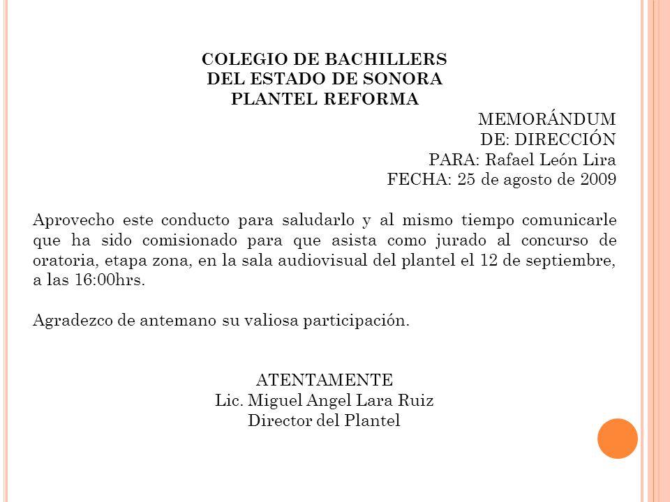 Lic. Miguel Angel Lara Ruiz
