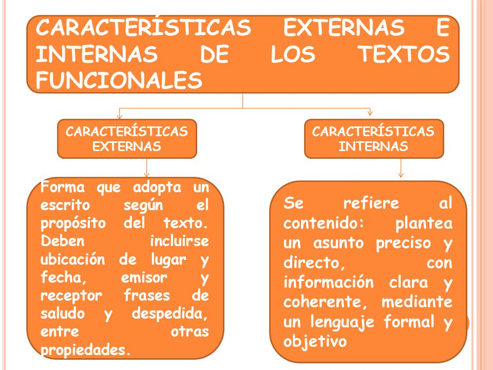 CARACTERÍSTICAS EXTERNAS CARACTERÍSTICAS INTERNAS