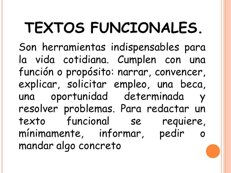 TEXTOS FUNCIONALES.