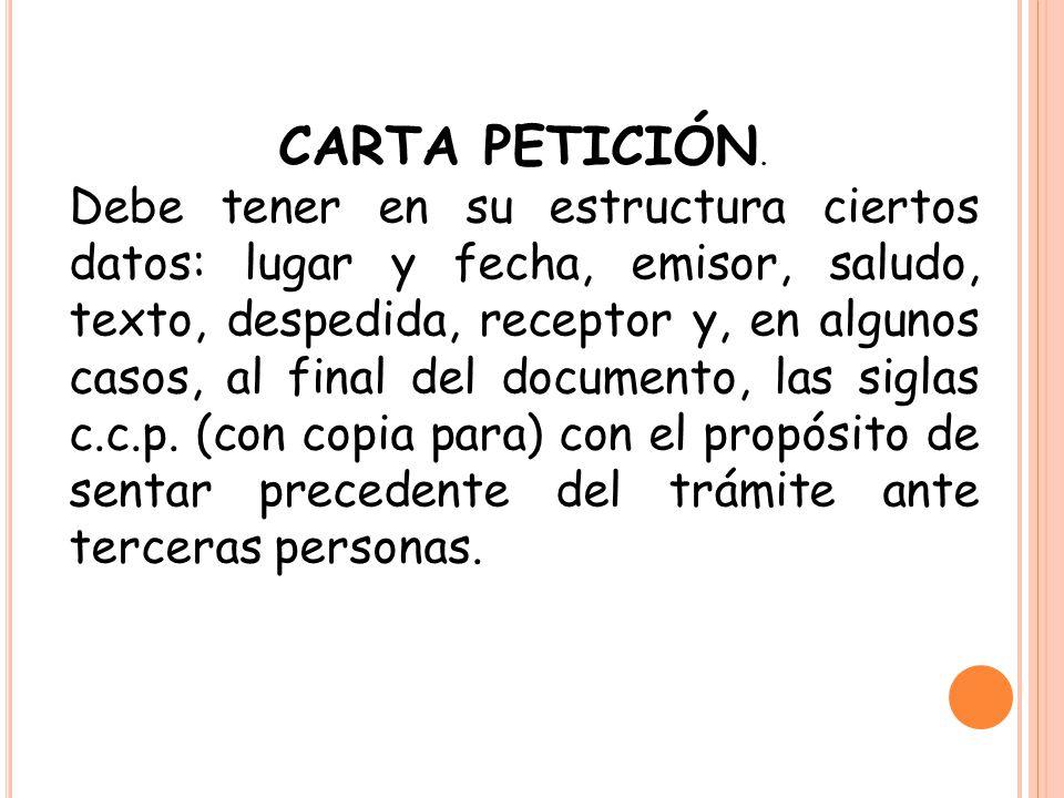 CARTA PETICIÓN.