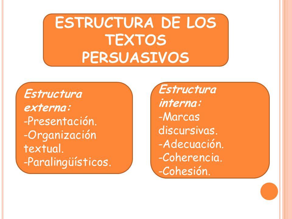 ESTRUCTURA DE LOS TEXTOS PERSUASIVOS
