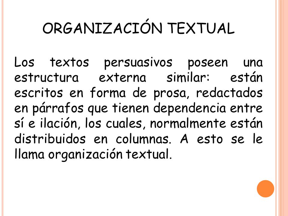 ORGANIZACIÓN TEXTUAL