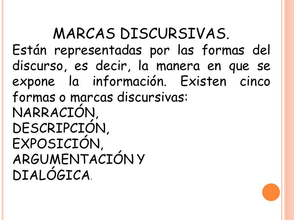 MARCAS DISCURSIVAS.