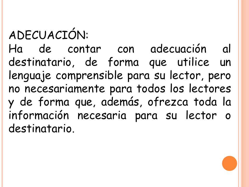 ADECUACIÓN: