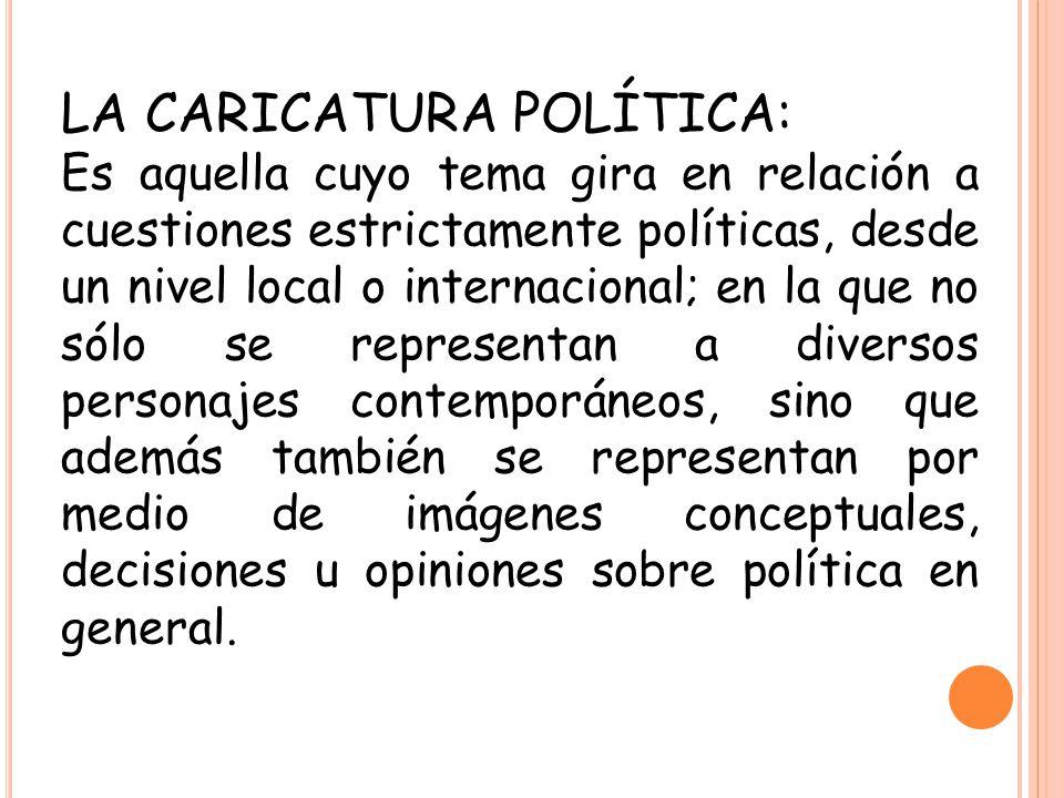 LA CARICATURA POLÍTICA: