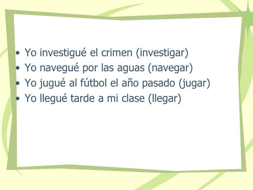 Yo investigué el crimen (investigar)