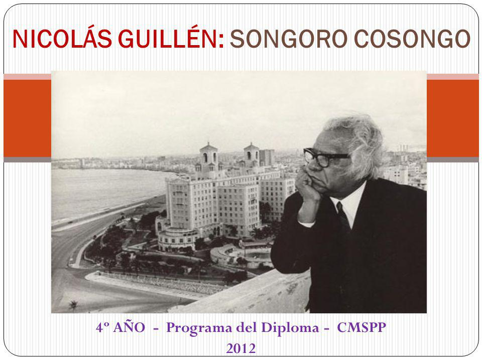 NICOLÁS GUILLÉN: SONGORO COSONGO
