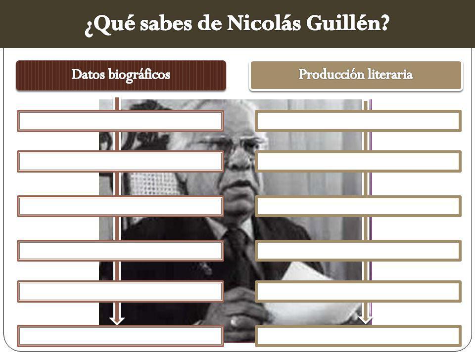 ¿Qué sabes de Nicolás Guillén