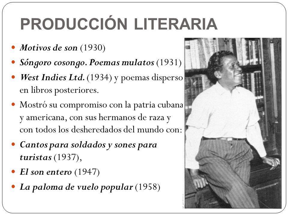 PRODUCCIÓN LITERARIA Motivos de son (1930)