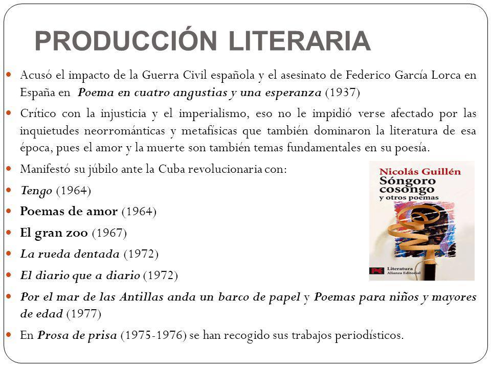 PRODUCCIÓN LITERARIA