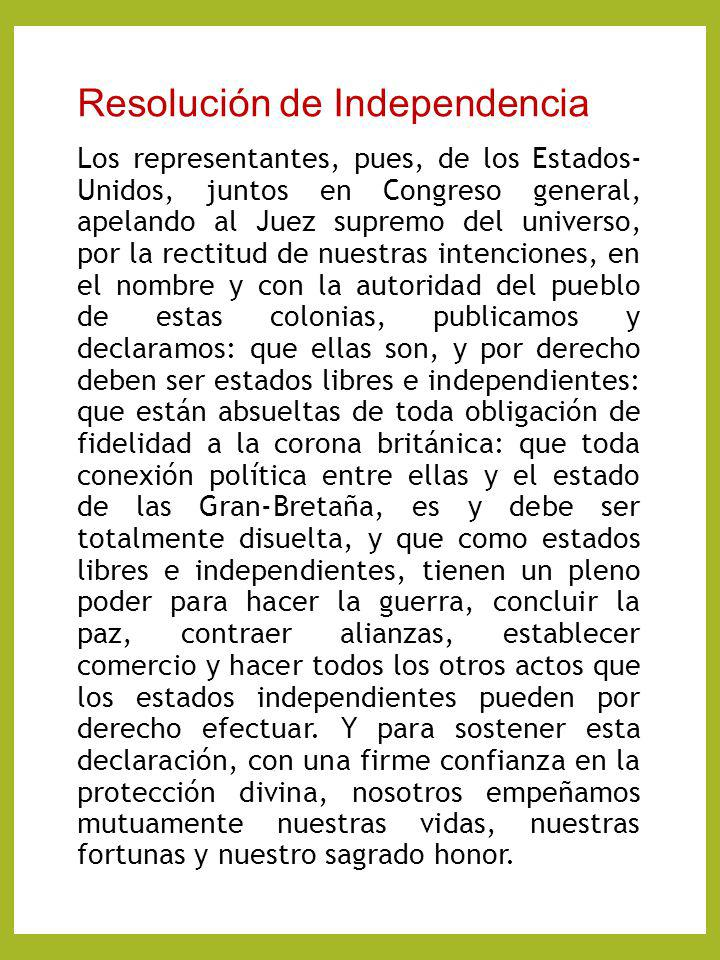 Resolución de Independencia