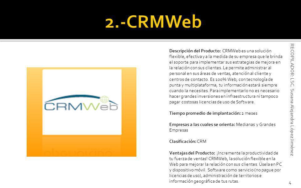 2.-CRMWeb RECOPILADOR: LSC. Susana Alejandra López Jiménez