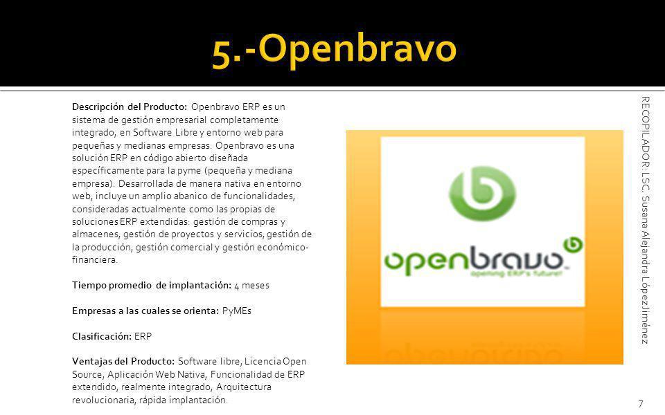 5.-Openbravo RECOPILADOR: LSC. Susana Alejandra López Jiménez