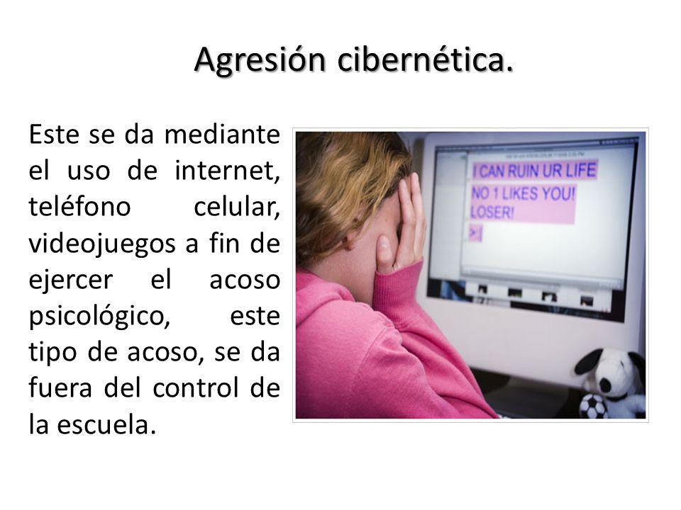 Agresión cibernética.