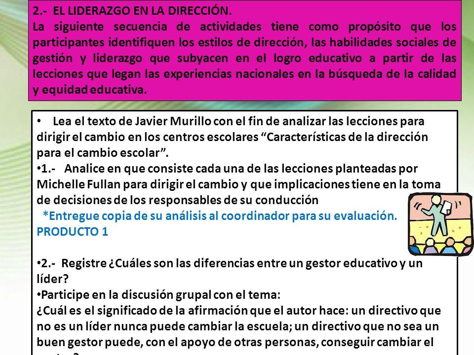 2.- EL LIDERAZGO EN LA DIRECCIÓN.