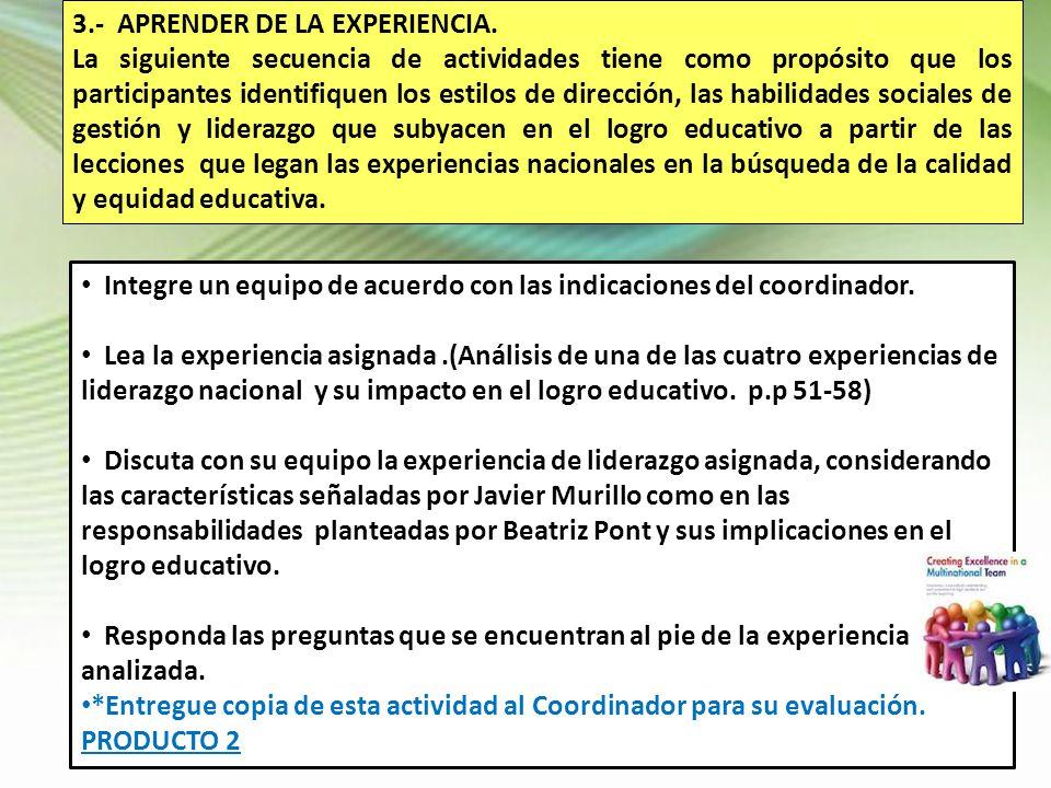 3.- APRENDER DE LA EXPERIENCIA.